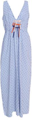 Flagpole Mabel Striped Cotton-Blend Midi Dress Size: S