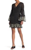 Love Stitch Multi Dot Waist Tie Mini Dress