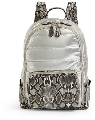 Bari Lynn Snake Print Backpack