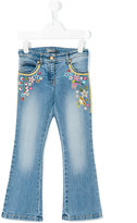 Ermanno Scervino embroidered flower jeans