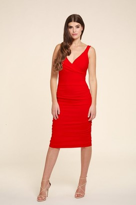 Honor Gold Gabby Red Midi