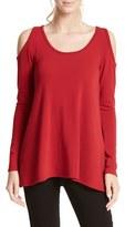 Karen Kane Women's High/low Hem Cold Shoulder Sweater
