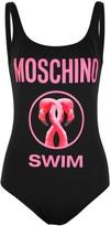 Moschino Black Flamingo-print Swimsuit