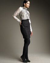 Lace-Panel Skirt
