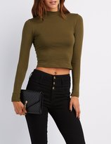 Charlotte Russe Mock Neck Crop Top