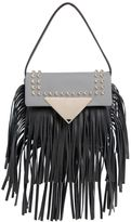 Sara Battaglia Mini Cutie Fringed Leather Shoulder Bag