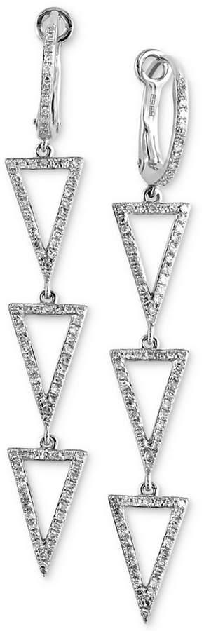 Effy Diamond Triangle Drop Earrings (1/2 ct. t.w.) in 14k White Gold