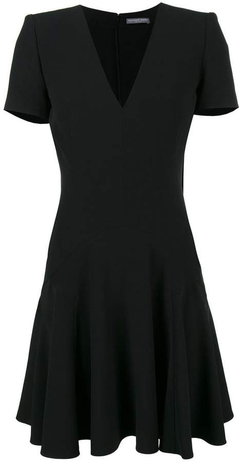 Alexander McQueen V-neck short sleeve dress