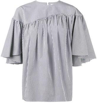 A.W.A.K.E. Mode Stripe Gathered Blouse