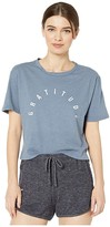 good hYOUman Finny Gratitude Tee (Washed Denim) Women's Clothing