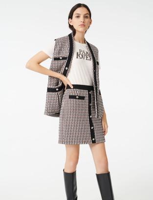 Maje Tweed-style lurex skirt