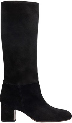 Chie Mihara Nenis High Heels Boots In Black Suede