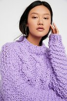 Cropped Fisherman Sweater by Loopy Mango at Free People