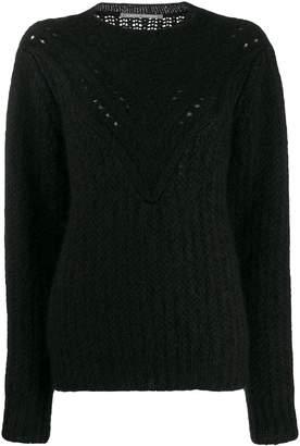 Alberta Ferretti textured-knit jumper