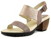 Jambu Sunstone Women Open-toe Leather Purple Slingback Sandal.