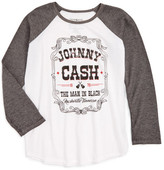 Signorelli Gem & Jets by Johnny Cash Raglan Tee (Big Girls)