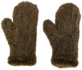 Yves Salomon mink fur gloves