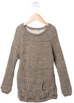 Makie Girls' Rib Knit Long Sleeve Sweater