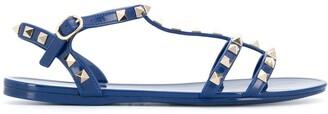 Valentino flat Rockstud caged sandals