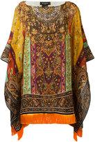 Etro printed draped tunic - women - Silk/Viscose - One Size