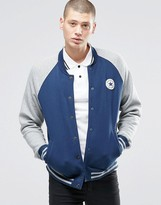 Converse Chuck Patch Jersey Bomber Jacket In Blue 10001111-a02