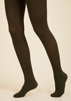 Cable for Discussion Tights in Olive