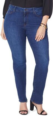 NYDJ Marilyn High Rise Straight Leg Jeans
