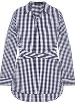 Cédric Charlier Gingham Cotton-blend Poplin Shirt - Blue