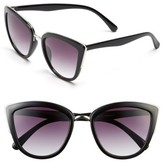 BP Junior Women's 55Mm Metal Rim Cat Eye Sunglasses - Black