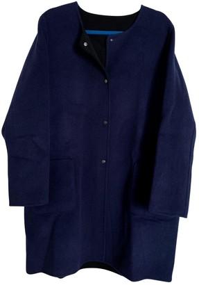 Gerard Darel Blue Wool Coat for Women