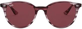 Ray-Ban Rb4305 Striped Bordeaux Havana Sunglasses