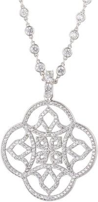 Celtic Knot Clover Pendant Necklace Silver