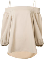 Tibi off shoulder top - women - Polyester - 6