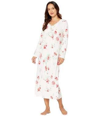 Carole Hochman Petite Soft Jersey Long Sleeve Long Gown