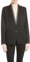 The Kooples Women's Lace Trim Suit Jacket