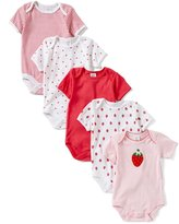 Starting Out Baby Girls Newborn-6 Months 5-Pack Strawberry Bodysuits