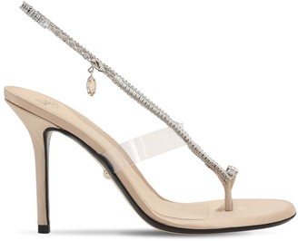ALEVÌ Milano 90mm Muriel Satin & Crystal Sandals