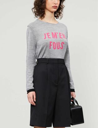 Zadig & Voltaire Gwendal slogan-print wool jumper