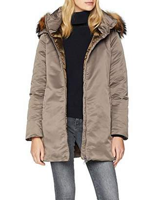 ADD Women's Parka with Down Padding and Fur BorderLarge