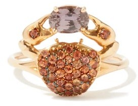 Daniela Villegas Cosquilleo Sapphire & 18kt Rose-gold Ring - Pink Multi