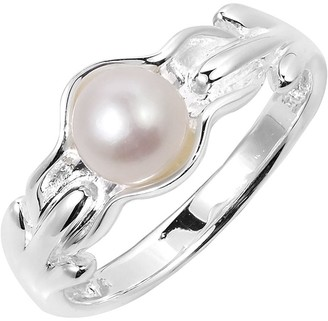 Aeravida Handmade Ocean's Treasure White Pearl Sterling Silver Ring