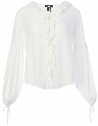 Paige Women's White Long Sleeve Luciano Blouse S