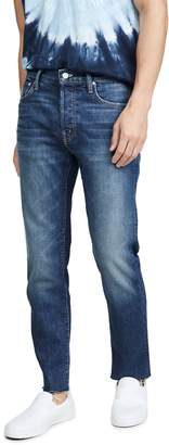 Mother The Chase Ankle Fray Jeans in Dirty Harry Wash