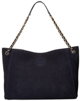 Tory Burch Marion Suede Chain-Shoulder Slouchy Tote