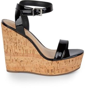 Schutz Raquel Patent Leather Platform Wedge Sandals