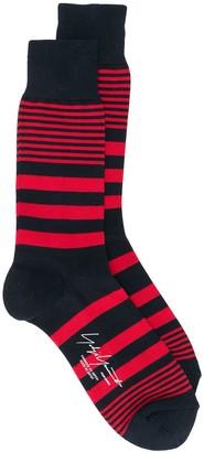 Yohji Yamamoto Striped Ankle Socks