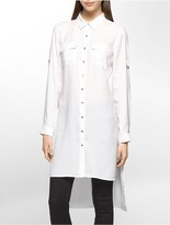 Calvin Klein High-Low Roll-Up Tunic