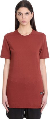 Drkshdw Level T-shirt In Bordeaux Cotton