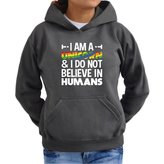 Eddany I am a unicorn and I do not believe in humans Women Hoodie