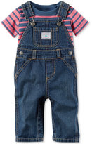 Carter's 2-Pc. Cotton Striped T-Shirt & Denim Overall Set, Baby Boys (0-24 months)